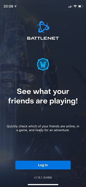 Blizzard-app-welcome-screen