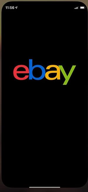 Ebay-app-opening