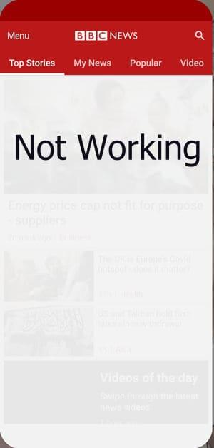 bbc news app not working