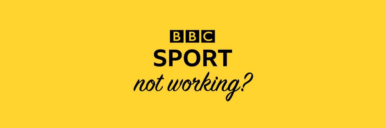 bbc-sport-not-working